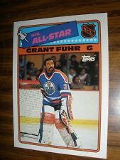 1988-89 Topps Sticker Insert #6 Grant Fuhr Edmonton Oilers NrMt