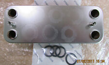 """Heat Exchanger Vokera Linea 24 DHW  Compatible   No 8036 8037 with """"O"""" rings"""