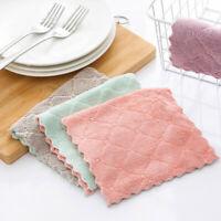 GI- 10Pcs Absorbent Microfiber Kitchen Dish Cloth Tableware Cleaning Towel Rags
