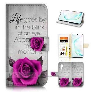 ( For Samsung Note 10+ / 10 Plus ) Flip Case Cover AJ40217 Rose