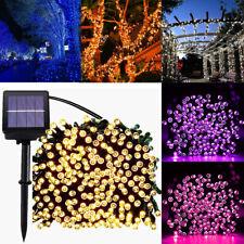 20-200 светодиодный на солнечных батареях фея гирлянды для сада патио забор открытый Рождественский
