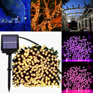 20-200 LED Solar Powered Fairy String Lights for Garden Patio Fence Outdoor Xmas