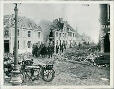 1914 World War I Dixmude-Nieuport Destruction Original News Service Photo