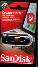 NEW SanDisk Cruzer Glide 16GB USB Flash Drive 2.0 3.0 COMPATIBLE SAN DISC DISK