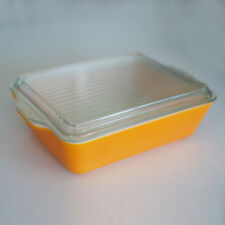 Vintage Pyrex 0503 SOLID ORANGE 1 1/2 QT Refrigerator Dish W Lid