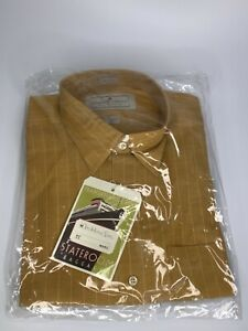 Madeleine Finn Vintage dress shirt NEW OLD STOCK mint in bag brown  L-XL