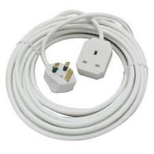 OMEGA 21302 Single Gang 1 Way 2m Mains Extension Lead UK Plug 13a Fused - White