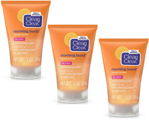 (3-Pack) Clean & Clear Morning Burst Facial Scrub (Travel Size) 1 oz (28g)