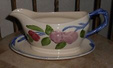Franciscan China ORCHARD GLADE Gravy Boat & Underplate England