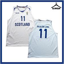 More details for scotland basketball jersey spalding l large away match nealon-lino no11 fiba e37