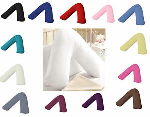 Plain Polycotton Back & Neck Support V Shaped Pillowcase Orthopedic//Pregnancy