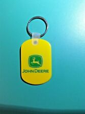 John Deere Official Rubber Key Ring,Tag: Yellow, Ships Free