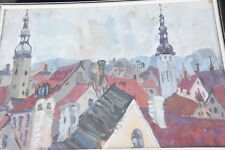 UDITA LEBERG SHAPIRO ORIGINAL PAINTING, 1970, OIL, TALLINN , ESTONIA , 65 X46 CM