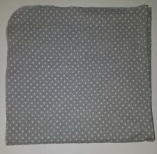 Gray White Polka Dots Receiving Blanket Lovey Security 100% Cotton Target