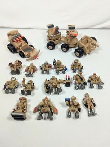 16 Vintage Galoob Combots ZBots Figures Vehicles Robots Micro Machines 92 93 94
