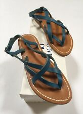K.Jacques Womens Sandals Size 36 Blue New Leather Made In France