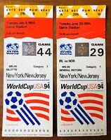 ( 2 ) World Cup USA 94 Ticket Stubs July 13 1994 Giants Stadium Mexico / Ireland