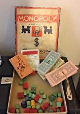 Vintage Monopoly Game, Missing Board