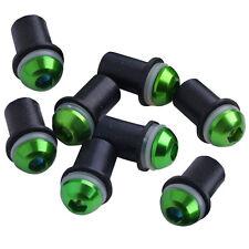 Green 8 PCS Windscreen Windshield Kit Bolts Rubber Well Nuts Washers M5 5mm New