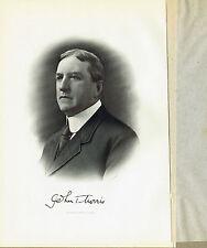 COL John T Morris-Lawyer-Journalist Baltimore Sun - 1917 Steel Engraved Print