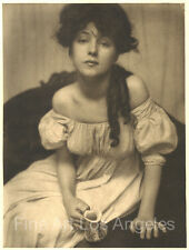 "Gertrude Kasebier Photo ""Miss N"" Portrait of Evelyn Nesbit, 1903 gravure version"