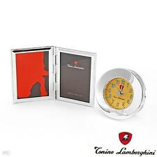 Tonino Lamborghini Italy Silver Collection Design Alarm Clock & Photo Frame Set