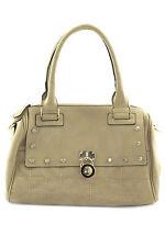 Womens Satchel Bag Brown Faux Leather Purse Tote Shoulder Doctor Handbag