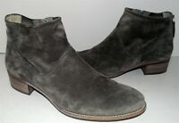 Paul Green Gray Suede Leather Ankle Boots 8 M US 5.5