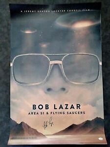Bob Lazar Signed Area 51 Movie Poster UFO Print 24 x 36 with JSA COA