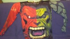 INCREDIBLE HULK LONG SLEEVED GRAPHIC SHIRT NWOT L-XL  FACE TEETH PICTURE FRONT