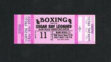 RARE MINT 1979 full boxing ticket SUGAR RAY LEONARD vs FERNAND MARCOTTE