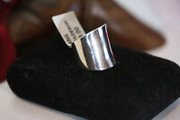 New Custom Hand Made Celtic Sterling Silver Cigar Band Large Thick Ring Sz 6 NWT