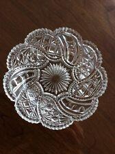 "Vintage American Brilliant 6 "" Cut Glass  Crystal Cut Shallow Glass Bowl Dish"