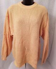 Roaman's NWOT Womens Yellowish Orange Sweater Top Size M