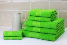 Striped Bright 100 Combed Cotton Soft Absorbant Lime Green Hand Towel
