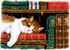 """Vervaco Knüpfteppichpackung """" Katze im Bücherregal """"  PN-0149896"""