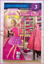 BARBIE DREAM CLOSET - Step Into Reading Step 3 Learn to Read - A COMIC READ  NEW