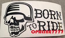 STICKER AUTOCOLLANT BORN TO RIDE CASQUE MOTO BIKERS USA ROUTE 66