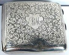 Silver George V Foliate Engraved Cigarette Case John Rose Birmingham 1926 108g