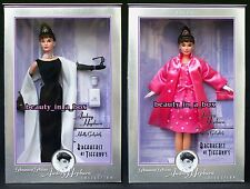 Audrey Hepburn Barbie Doll Breakfast at Tiffany's Black Gown Pink Lot 2 NRFB G