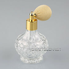 80ml Vintage Glass Clear Perfume Spray Bottle Atomizer Khaki Short Pump Gifts