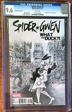 SPIDER-GWEN #3 NEAR MINT+ CGC 9.6 graded a MARVEL comic WHAT A DUCK?! cover
