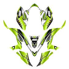 KFX 450R graphics decal kit for Kawasaki Quad Design #1300 Neon Green