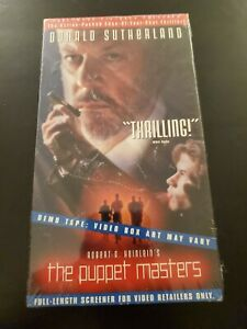 The Puppet Masters (VHS, 1995) Demo Promotional Full-length Screener Tape SEALED