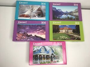 Encore 504 Pieces Nature Landscape Puzzles - Factory Sealed - Set Of 5