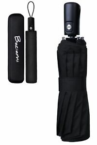 ABVERKAUF: Regenschirm - Automatik - 12 Streben Taschenschirm Schirm mit Etui