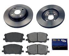 Front Ceramic Brake Pad Set & Rotor Kit for 2012-2014 Toyota Prius C