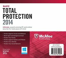 McAfee Total Protection 2014 - 3 Users 1 Year