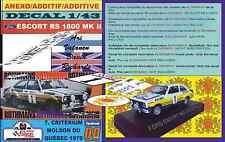 ANEXO DECAL 1/43 FORD ESCORT RS 1800 MKII A.VATANEN QUEBEC 1979 3rd (01)