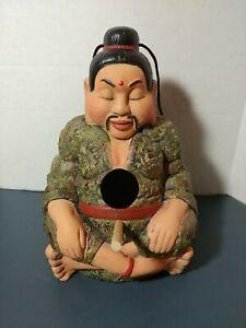 OrientaI/ Asian man Buddha Style hanging Birdhouse ceramic